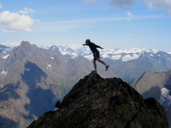 Balancing on the Brink eagle-peak-summit Chugach Mountains, Alaska CC 2.0 Paxson Woelber