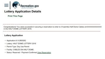 Half Dome cables permit