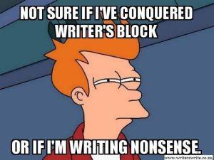 conquered writer's block